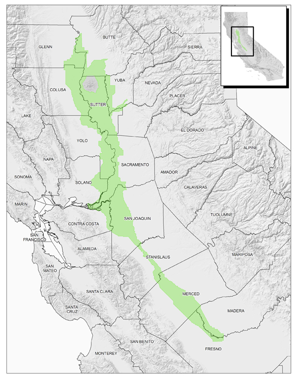 Map Showing Sacramento-San Joaquin Drainage District